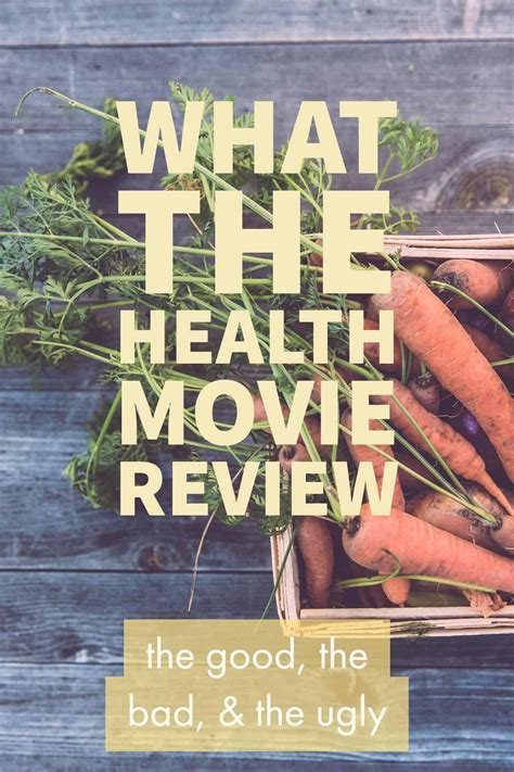 what the health review - the good, the bad, and the ugly ...