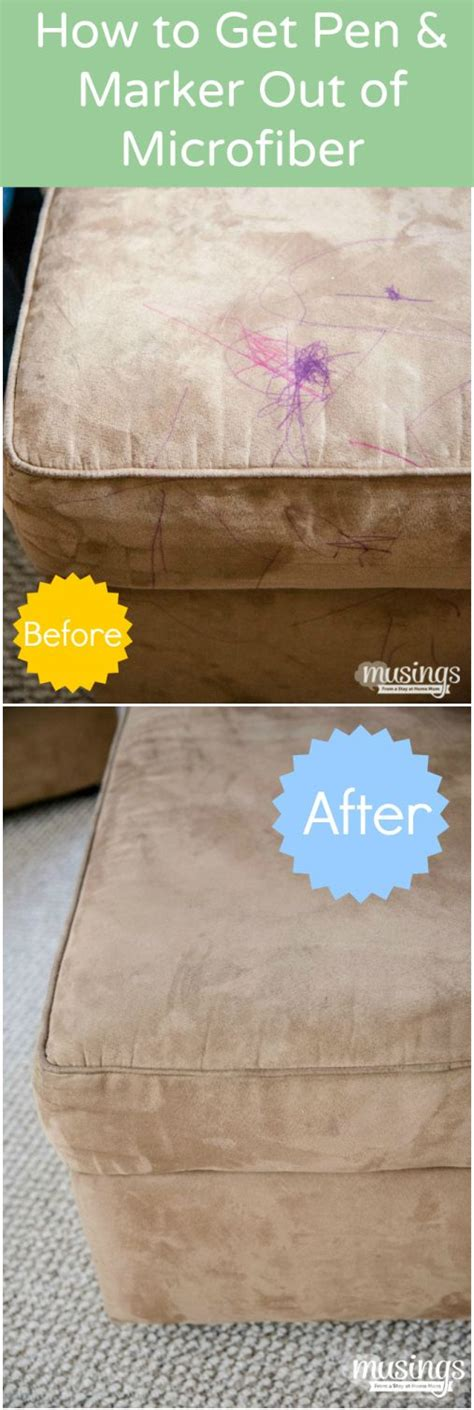 cleaning tips how to get pen and marker out of a microfiber organization and cleaning - How To Get Stains Out Of Microfiber Sofa