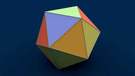 net  solid shapes icosahedron ikosaedr ikosaedr