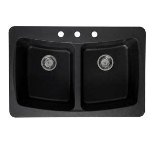 black kitchen sinks at home depot pegasus dual mount granite 33x22x9 3 textured 9302