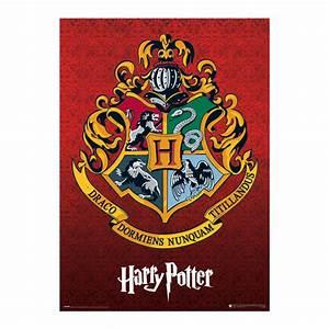 Affiche Harry Potter effet métallique Poudlard sur Cadeaux et Anniversaire