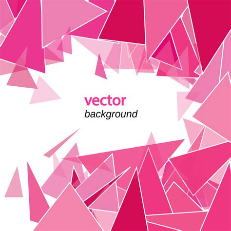 l shades abstract polygon background in pink shades vector free