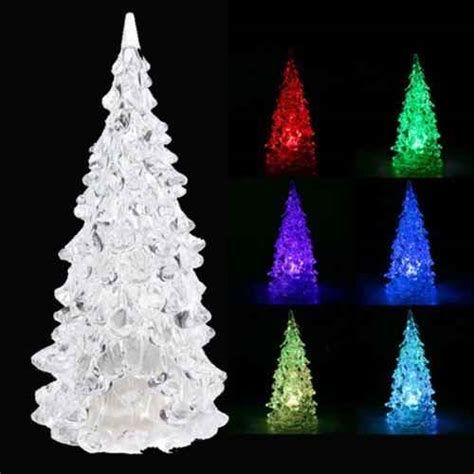 led color changing christmas tree night light only 4 41