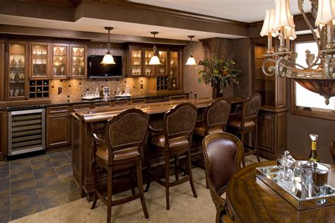 Houzz Bar by Exceptional Bars Traditional Kitchen Other Metro