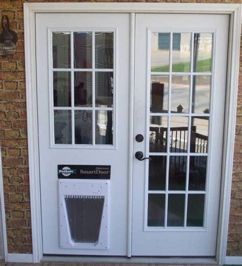 replace sliding glass door  dog door   doghouse