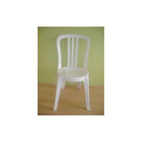 chaise de bistrot blanche chaise bistrot résine blanche