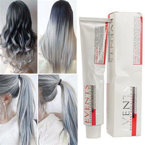 Hair Colourants Dyes Semi Permanent Light Gray Hair