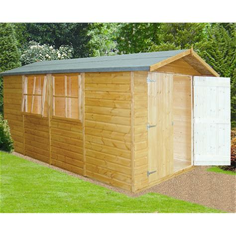 Tongue And Groove Boards For Sheds by 13 X 7 Tongue And Groove Corner Wooden Garden Shed