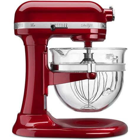 glass bowl kitchenaid stand mixer design series pro 600