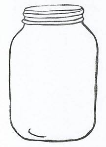 Mason Jar clipart coloring page - Pencil and in color ...