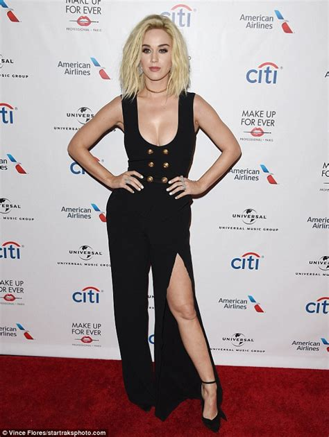 Katy Perry flaunts her ample assets at Grammy after-party ...