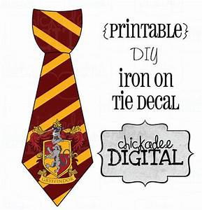 harry potter tie template - 1 tie harry potter gryffindor house crest printable diy