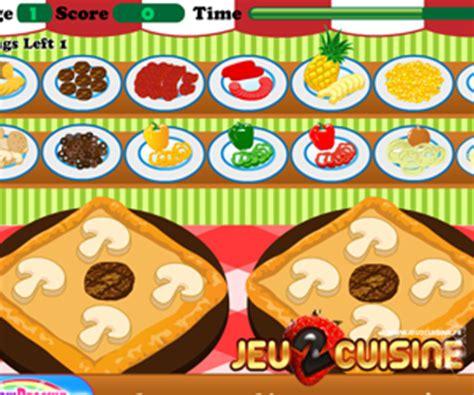 jeu de cuisine pizza jeux de cuisine gratuit