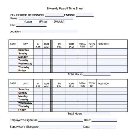 biweekly timesheet template 20 payroll timesheet templates sles doc pdf excel free premium templates