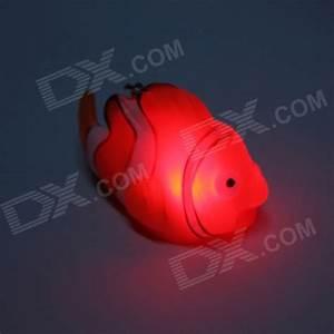 Luminous Clown Fish Shaped Keychain w/ Colorful Light ...