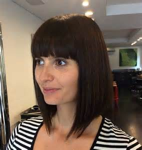 Angled Bob's Hairstyles with Bangs