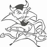 Demonios Demonio Diablos Krampus Teufel Dreizack Devils Ausmalbild Dämon Pintar Tridente Damonen Infantiles sketch template