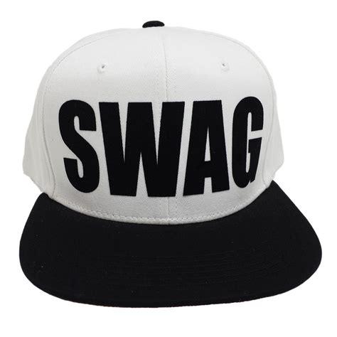In Swag L by Swag White Black Flock Black Snapback Cap Ebay