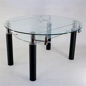 Table De Salle A Manger En Verre Avec Rallonge : table ronde en verre extensible ronde table de lit ~ Teatrodelosmanantiales.com Idées de Décoration