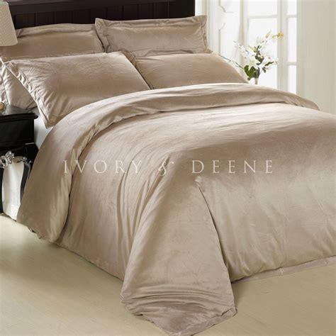 New Luxury Soft Mocha Latte Fur King Size Quilt Doona