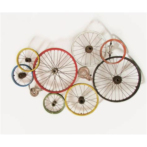 bicycle wall art wheels recycled  walls urban