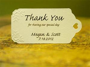 Thank you wedding favor tags the beautiful wedding favor for Thank you tags for wedding favors