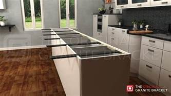 kitchen island with granite countertop kitchen island countertop support bracket protect your