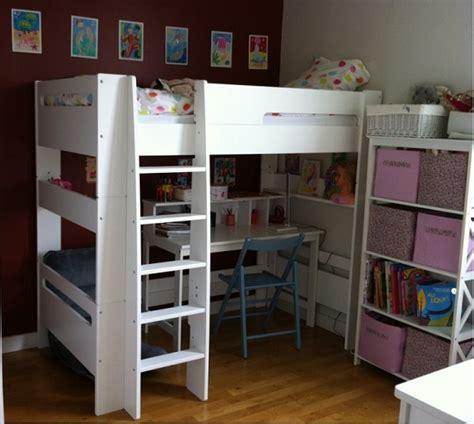 lit mezzanine blanc avec bureau lit mezzanine enfant wax blanc 90x190 cm