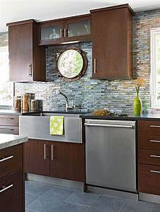 recycled glass backsplash tile and cherry cabinets on With kitchen colors with white cabinets with papier recycle