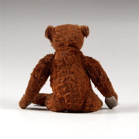 steiff  center seam cinnamon teddy bear cowans