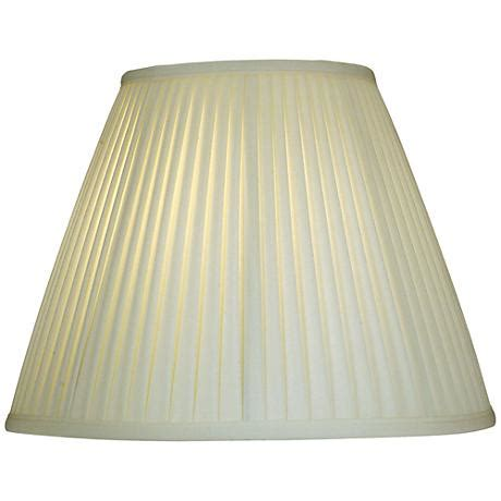 stiffel pleated l shades stiffel ivory shadow side pleat empire shade 8x16x12