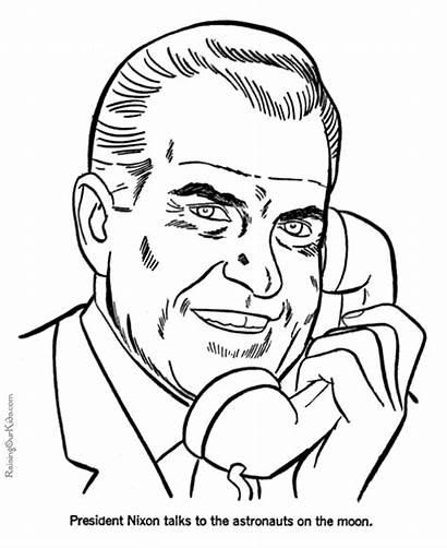 Coloring Nixon Pages Printable Richard President Presidents