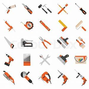 Home repair tools vector icons Working repair tools for