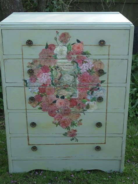 painting chest of drawers shabby chic 37 best images about chest of drawers painted decoupage shabby chic distressed vintage on