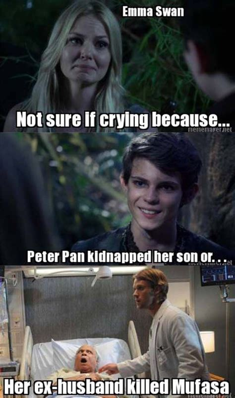 Once Upon A Time Memes - emma swan once upon a time funny meme the interconnecting ties in o u t are crazy and get