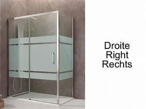 Paroi de douche accessoires largeur 70 longueur 70 170 for Porte douche hauteur 170