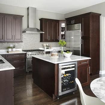 grey and black kitchen cabinets kitchen island with wine cooler contemporary kitchen 6950
