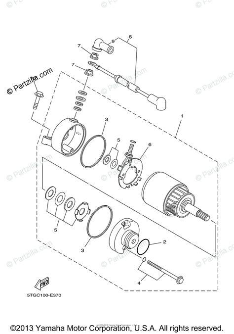 Yamaha Atv Oem Parts Diagram For Starting Motor