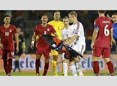 Serbia condemns drone flag stunt at Albania match BBC News