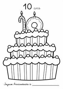 Dessin Gateau Anniversaire : anniversaire24 dessin gateau anniversaire 10 ans ~ Melissatoandfro.com Idées de Décoration