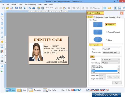 id cards employee student faculty identification card