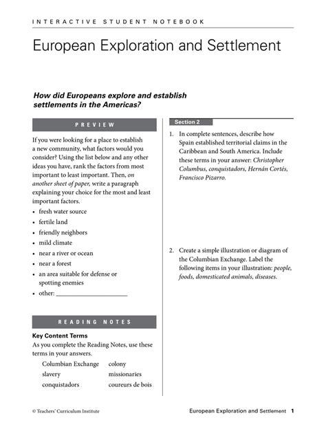 Workbooks » Teachers Curriculum Institute Worksheets