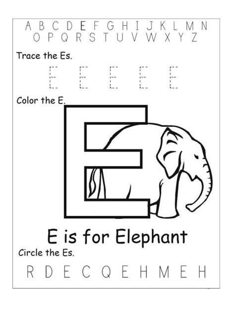 letter e worksheets preschool e is for elephant worksheet for prescholl preschool crafts 307