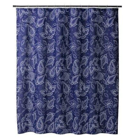 Best Blue Paisley Shower Curtain Images Pinterest