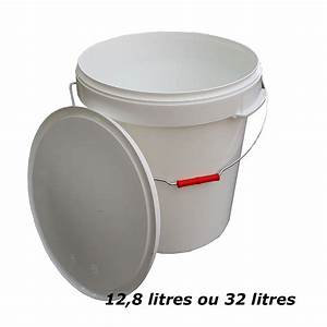 Seau Toilette Seche : seau toilette s che en plastique alimentaire 32 litres ~ Premium-room.com Idées de Décoration