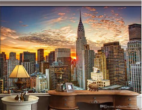luxury european modern  york city skyscraper mural