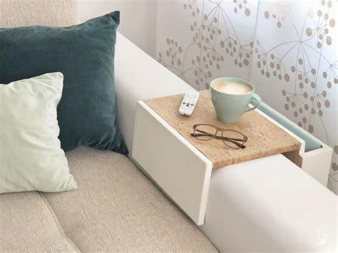 Diy Sofa Tablett Elfenweiss