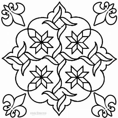 Rangoli Coloring Pages Designs Printable Diwali Mandala