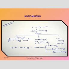 How To Develop Note Making Skill