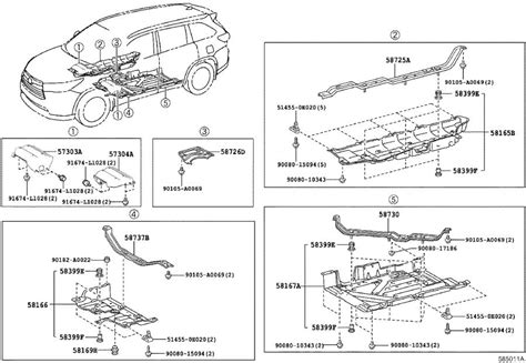 2013 Highlander Wiring Diagram by Toyota Highlander Parts 2008 Toyota Highlander Parts